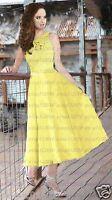 New lace & chiffon Tea Length Bridesmaid Dresses Prom evening dress size 6++++18