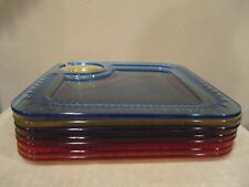 """Square Sturdy Plastic Party/Tailgate Plates w/ Holder (Wine/Beer) 9 1/2"""" (7pcs)"""