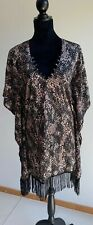 BOND EYE  Snakeskin Print Kaftan Beach Cover Up Aus 10 US 8 Eur 38