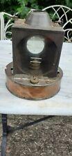 More details for  vintage railway lamp, copper bottom marked planlite