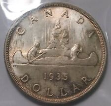 Canadian 1935 Silver Dollar ICCS MS 66 Original Tone Canada Uncirculated First