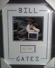 BILL GATES MICROSOFT CEO LEGEND JSA LOA SIGNED AUTOGRAPH DOUBLE MATTED FRAMED A