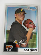 2010 Bowman Chrome #BCP155 Rudy Owens Pittsburgh Pirates Rookie Baseball Card