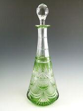 """ST louis crystal-FANTASIE design-couleur vert antique decanter - 13 1/2 """""""