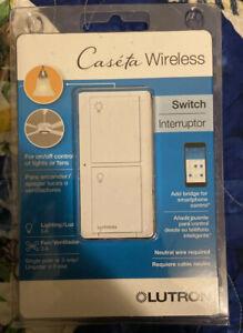 Lutron Caséta Wireless 120V Outdoor Smart Dimmer - White (PD-5ANS-WH-R)