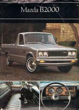 MAZDA b2000 PICK-UP 1981 mercato USA illustrativo BROCHURE DI VENDITA