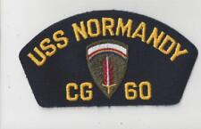 PATCH  NAVY USN USS NORMANDY CG60 ARMY CREST