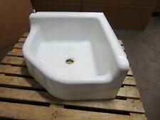 """Kohler Vintage 28"""" X 28"""" White Cast Iron Corner Mop Porcelain Sink"""