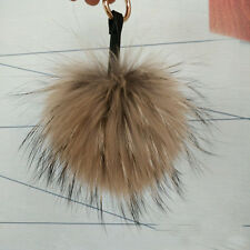 1PCS Real Raccoon Fur Pom Pom Ball Pendant for Mobile Strap Bag #94021