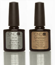 CND Shellac UV gel Nail Polish Genuine Top & Base Coat FREE FAST DELIVERY