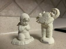 """Dept 56 Snowbabies~""""Now I Lay Me Down To Sleep"""" & """"Give A Little Heart"""" Figurine"""