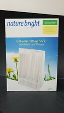 Brand New NatureBright SunTouch Plus Light and Ion Therapy Lamp White Free S&H