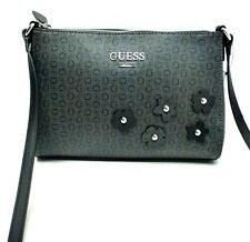 "GUESS Messenger Crossebody Bag""Society Coal w/G Logo Print Shoulder Purse New"