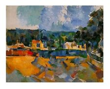 Paul Cezanne Uferlandschaft Poster Kunstdruck Bild 48x60cm