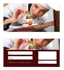 50 x Geschenkgutscheine (Gastro-615) TOP Gutscheine für Gastronomie Restaurant