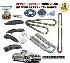 FOR BMW 1 SERIES CABRIO 118D 120D 123D 2008-  UPPER + LOWER TIMING CHAIN KIT SET