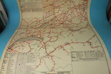 Landkarte / Faltkarte / Automobilkarte SCHWEIZ  1928  - Maßstab 1:400 000 /S35