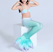 Costume Coda Sirena 4 Punte 6-12 Girl Mermaid Tail Mare Piscina SMZ013 P