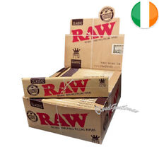 RAW Rolling Papers King Size Slim Classic Natural Unrefined Skins & Roach Tips