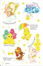 Vtg AGC American Greetings TCFC Care Bears Stickers Sheet