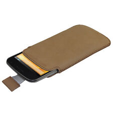 Brown Leather Pouch Case Cover for LG Google Nexus 4 Android Smartphone