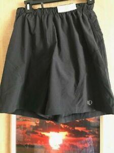 Pearl izumi size S black lined unisex short zipper-pocket