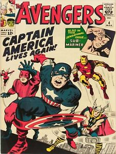 The Avengers Silver Age Comic NEW Metal Sign: Captain America Lives Again!