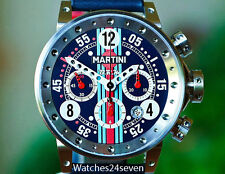 BRM Automatic Chronograph Martini Special Edition Blue Dial 44mm, Ref. V12-44-MR