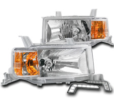 FOR 2004 2005 2006 SCION XB CHROME REPLACEMENT HEADLIGHT HEADLAMP+BUMPER LED DRL