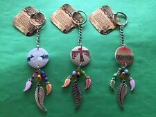 Lot of 3 Unique Dream Catcher Keychains w/ The Story of the Dream Catcher Tags
