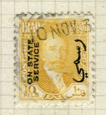 IRAQ; 1932 early King Faisal STATE SERVICE issue fine used 10f. value