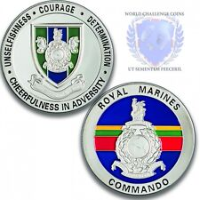 Royal Marines Commando Logistic Regiment Silver Challenge Coin