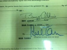 Autograph Buzz Aldrin (Sag television commercials agency contract)