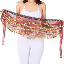 Belly Dancing Costume Hip Scarf Indian Dance Belt Hipscarf Beads&Coins Velvet #3