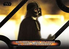 Star Wars Galactic Files (2018) QUOTES Insert Card MQ-9 / DARTH VADER