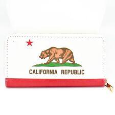 Bijorca California Republic Printed Vinyl Zip Around Clutch Wallet