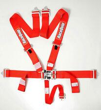 RaceQuip 711011 Red Race Car Seat Belts 5 pt SFI Safety Harness IMCA NHRA UMP
