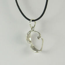 Sunglasses Charm Pendant Necklace .925 Sterling Silver USA Made Goggles Sunglass