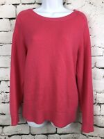 Boden Women Jumper Sweater Wool Blend Pink Long Sleeve Comfy Soft US Size 12