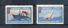YUGOSLAVIA 2 x POSTER STAMP - SHIPS - F/VF