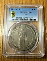 1832 Cuzco Peru 8 reales PCGS AU 50 not Lima BEAUTIFUL Toning silver republic