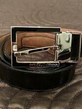 Dolce & Gabbana Men's Black Belt 100/40