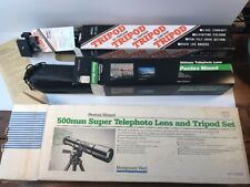 NOS 500mm Super Telephoto Lens & Tripod Set, Pentax Mount, F/8 to F/32 Japan