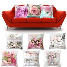 Peony Flower Print Home Sofa Throw Pillow Case Cushion Cover Throw Pillowcase Y