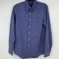 J Crew mens shirt large long sleeve button down blue collared casual NEW