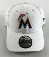 Miami Marlins Strapback Baseball Hat New Era 9Twenty White Ajustable