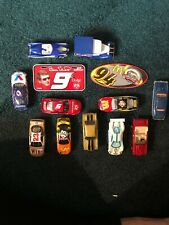 """A Set Of """"11"""" Combined """"hot Wheels"""" & Matchbox Cars W/Sticker/license Plate"""