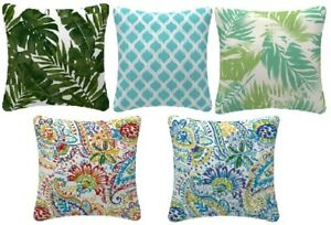 Outdoor FILLED cushions covers with inserts OR cover only. Weather resistant..