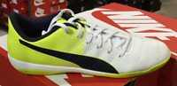 PUMA evoPower 4.3 IT Men's Indoor Soccer Shoes Yellow/White 103587 04 FastShip L