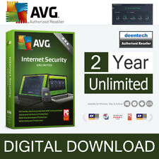 AVG Internet Security 2018 (2 ans/Unlimited) dispositifs Antivirus Véritable Licence